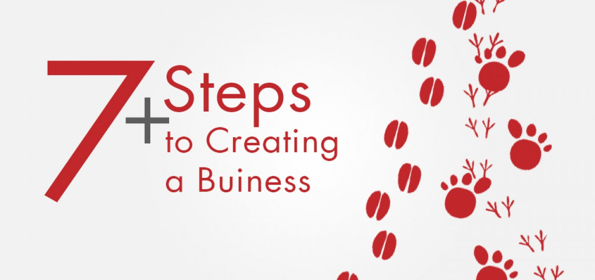 7 steps plus starting a business